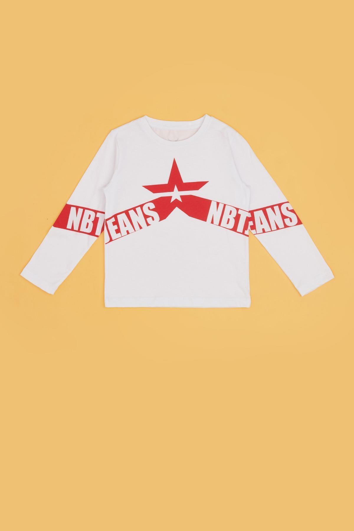 Nebbati Erkek Çocuk Beyaz T-shirt 20pfwnb3501 2
