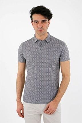 Jakamen Lacivert Regular Fit T-shirt Polo Yaka