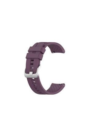 Kyver Samsung Gear S3 Ve Huawei Watch Gt Gt2 Silikon Kordon Kayış Mor
