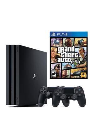 Sony Playstation 4 Pro 1 TB + 2. PS4 Kol + PS4 GTA 5