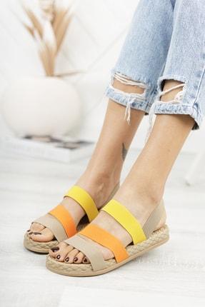 Deripabuc Bej Kadın Sandalet Dp21-0035