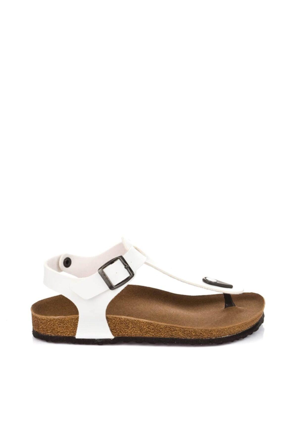 Fox Shoes Kadın Beyaz Sandalet B777805009 2