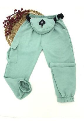 X-Joy Kız Çocuk Spor Yazlık Önü Çantalı Ayrobın Pantolon