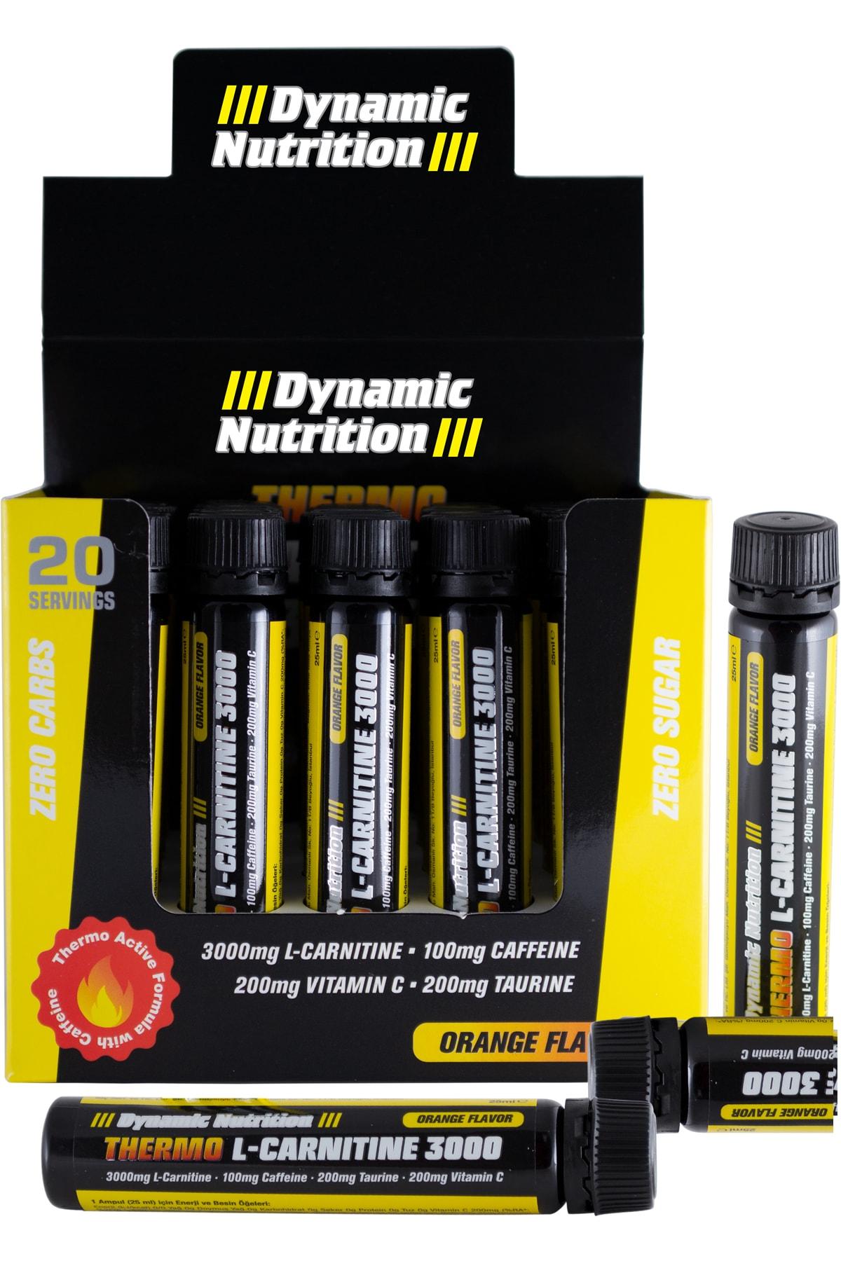 Dynamic Nutrition Thermo L-carnitine 3000 Mg 20 X 25 ml (portakal Aromalı) 1
