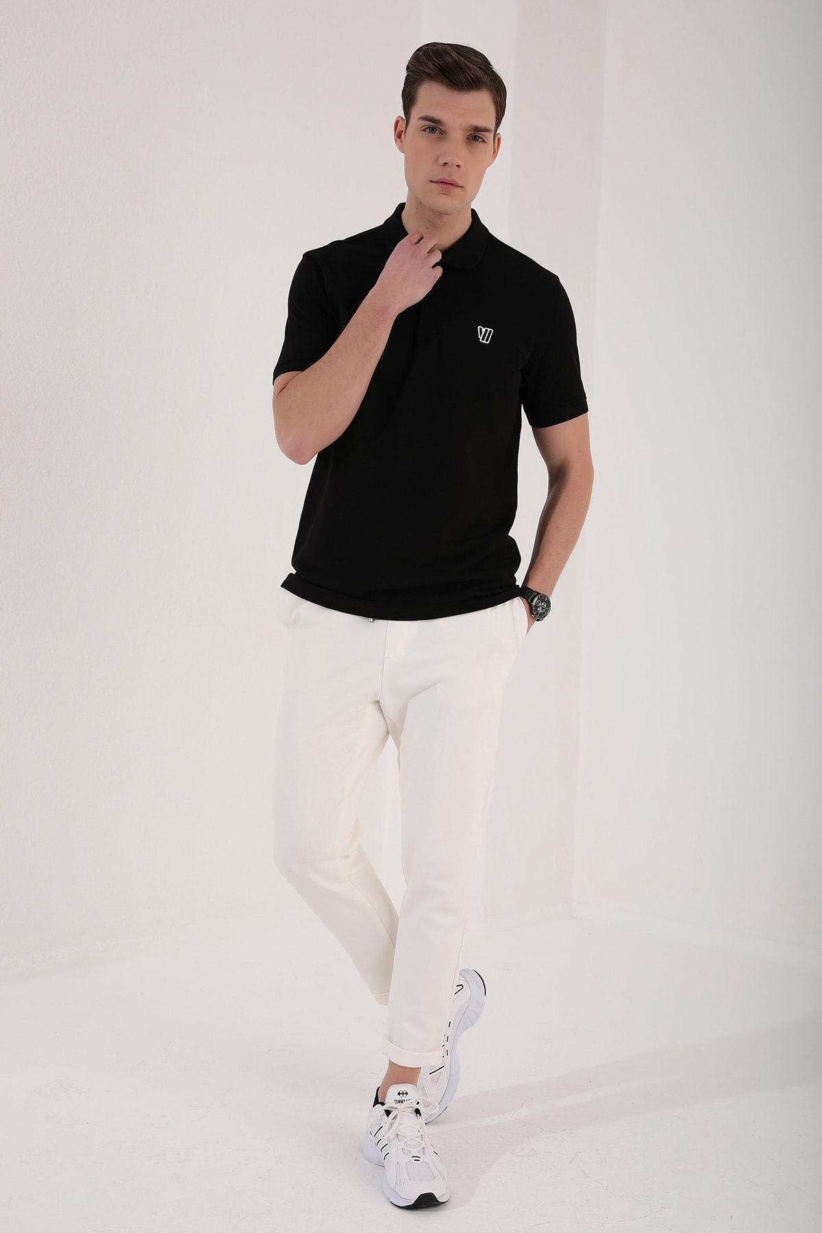 Tommy Life Klasik Polo Yaka Siyah Erkek Tshirt T08ER-87768 2