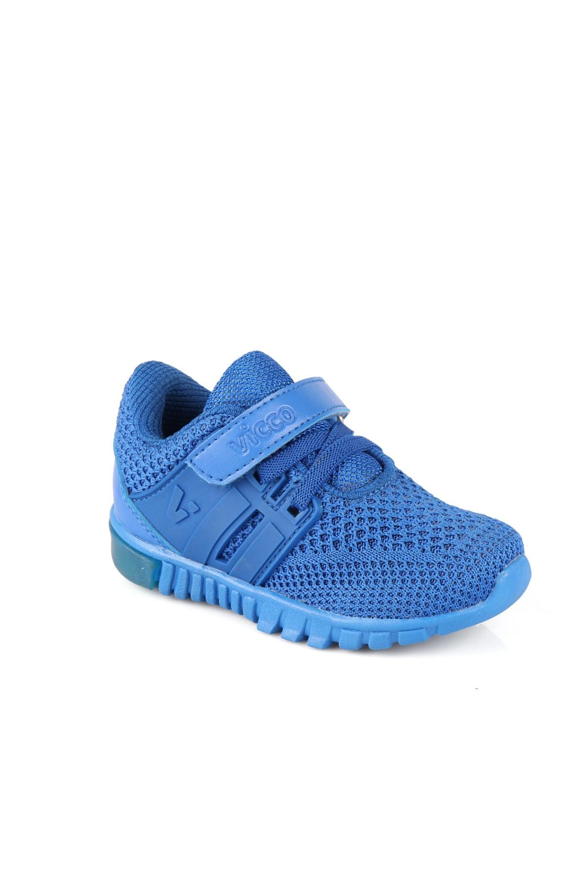 Vicco Bebe Ayakkabı Erkek Bebe Saks Mavi Spor Ayakkabı 1