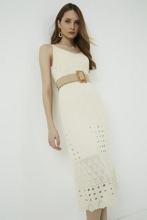Vis a Vis Kadın Ekru Askılı Merserize Kroşe Elbise