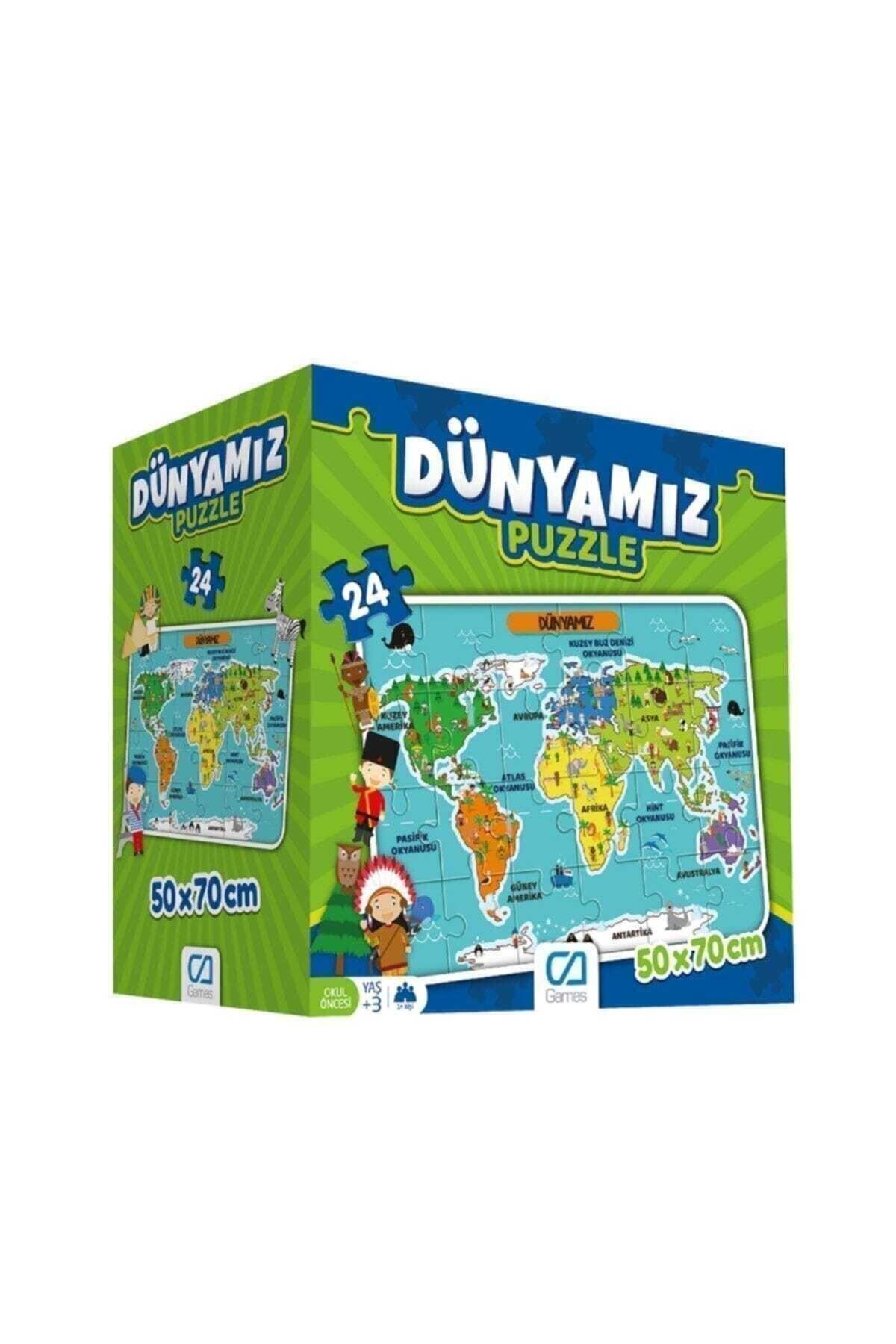 Ks Puzzle Ca Games Dünyamız Yer Puzzle 24 Parça 2