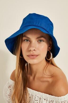 Y-London Kadın Saks Mavi Bucket Şapka 13372