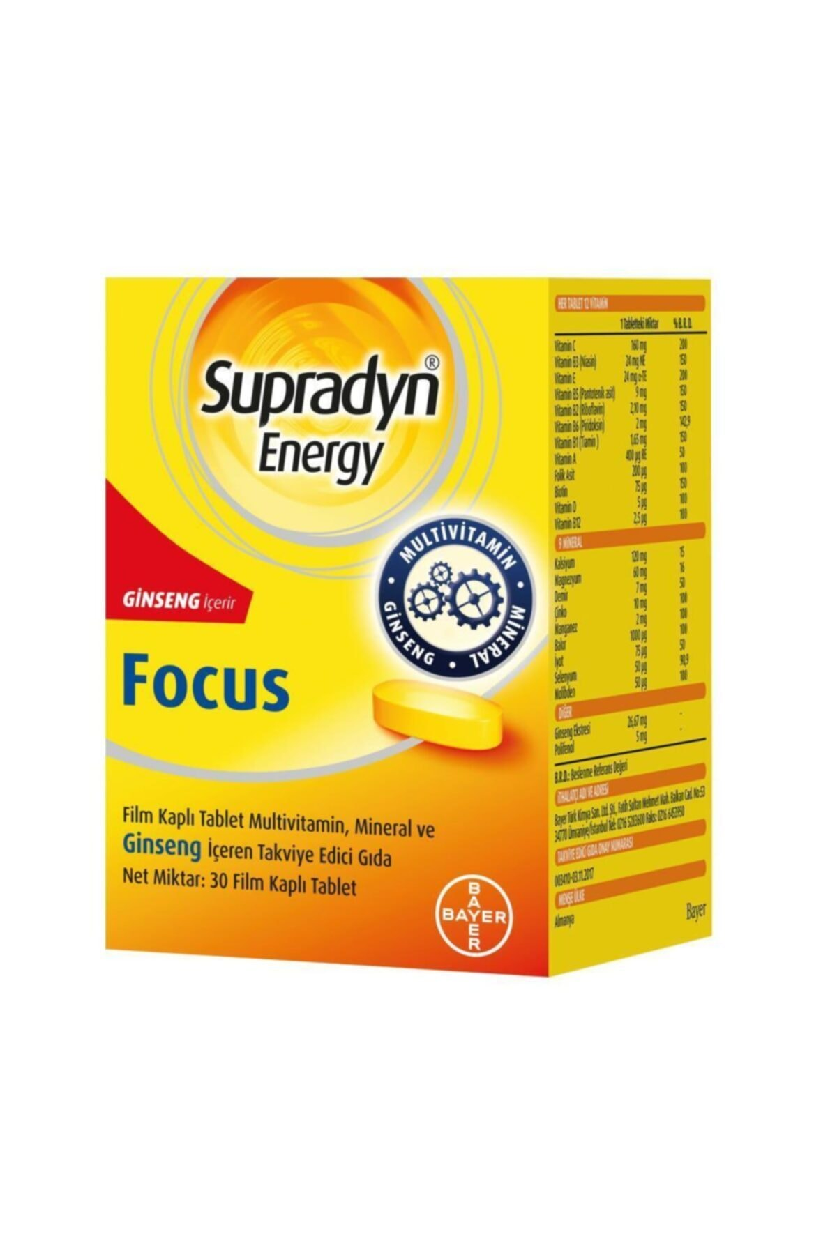 Supradyn Energy Focus 30 Tablet 1