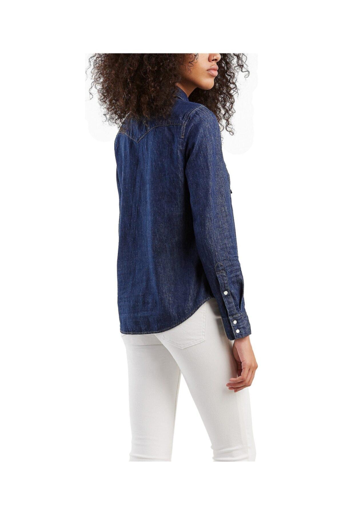Levi's Kadın Lacivert The Ultımate Western Jean Gömlek 2