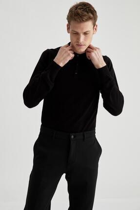 DeFacto Slim Fit Polo Yaka Basic Triko Kazak