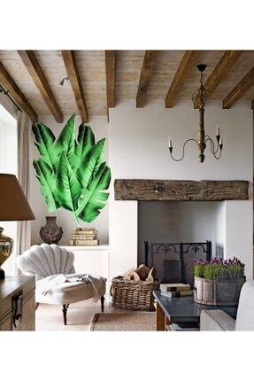 baskışah Çimen Yeşili Tropical Yaprak Set