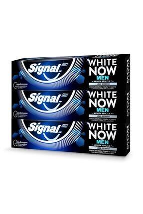 Signal White Now Men Anında Beyazlık + Leke Giderici Diş Macunu 75 ml X3