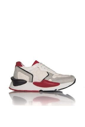 İnci Kadın Beyaz Vegan Süet/tekstil Bağcıklı Klasik Spor Ayakkabı -3001