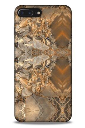 Lopard Mermer Desenli (8) Tema Baskılı Kılıf Açık Kahverengi Apple Iphone 8 Plus Kılıf