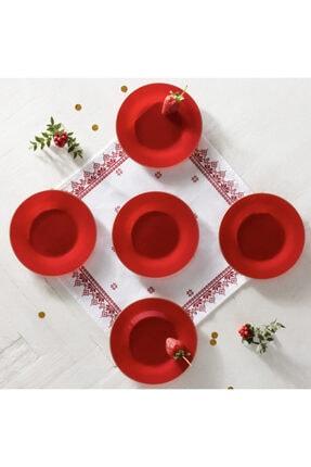 Karaca Retro Kırmızı 6 Parça Pasta Takımı
