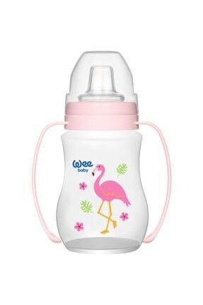 Wee Baby Kız Bebek Akıtmaz Kulplu Pp Alıştırma Bardağı (Anti-colic)-754