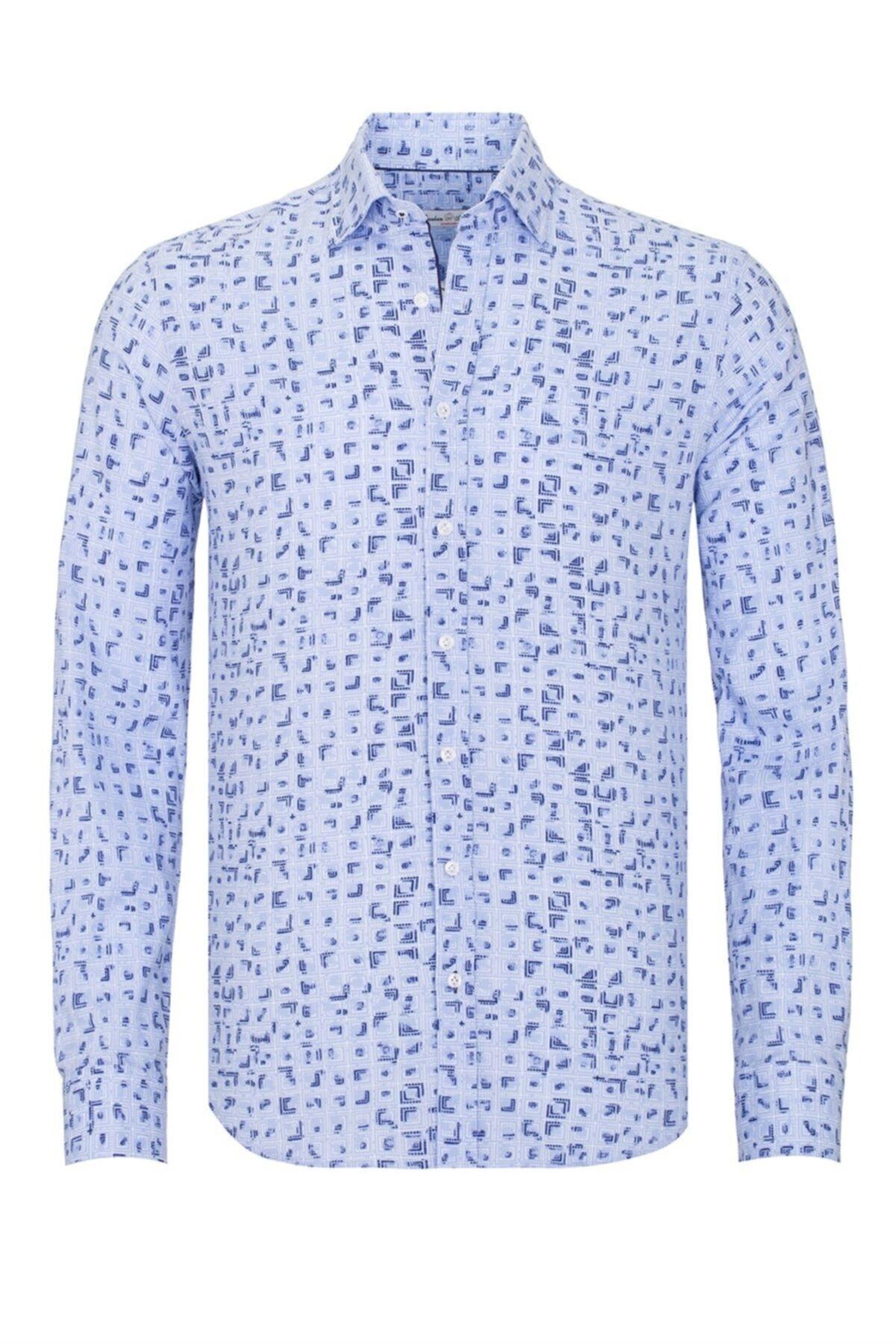 Paşahan Erkek Mavi Gömlek  P41D010450 1