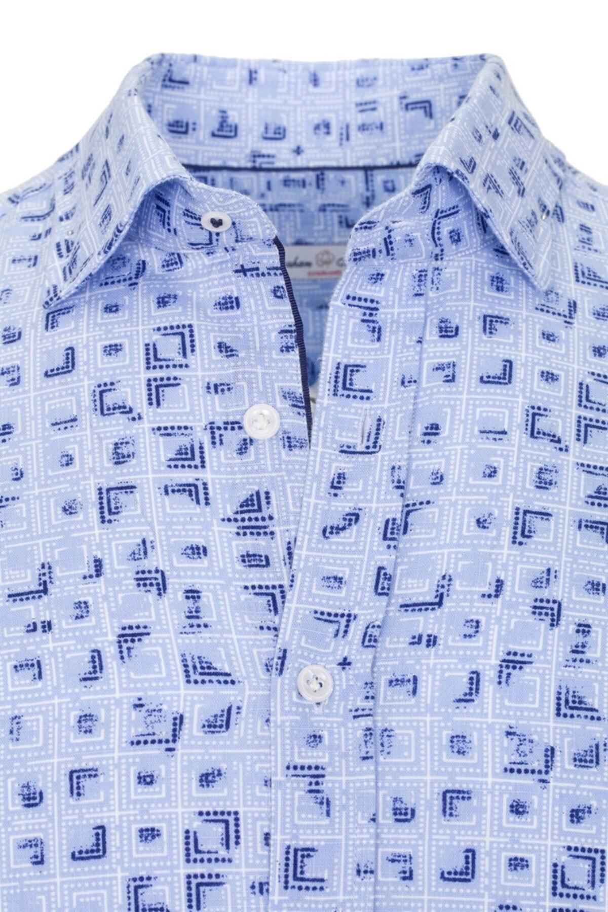 Paşahan Erkek Mavi Gömlek  P41D010450 2