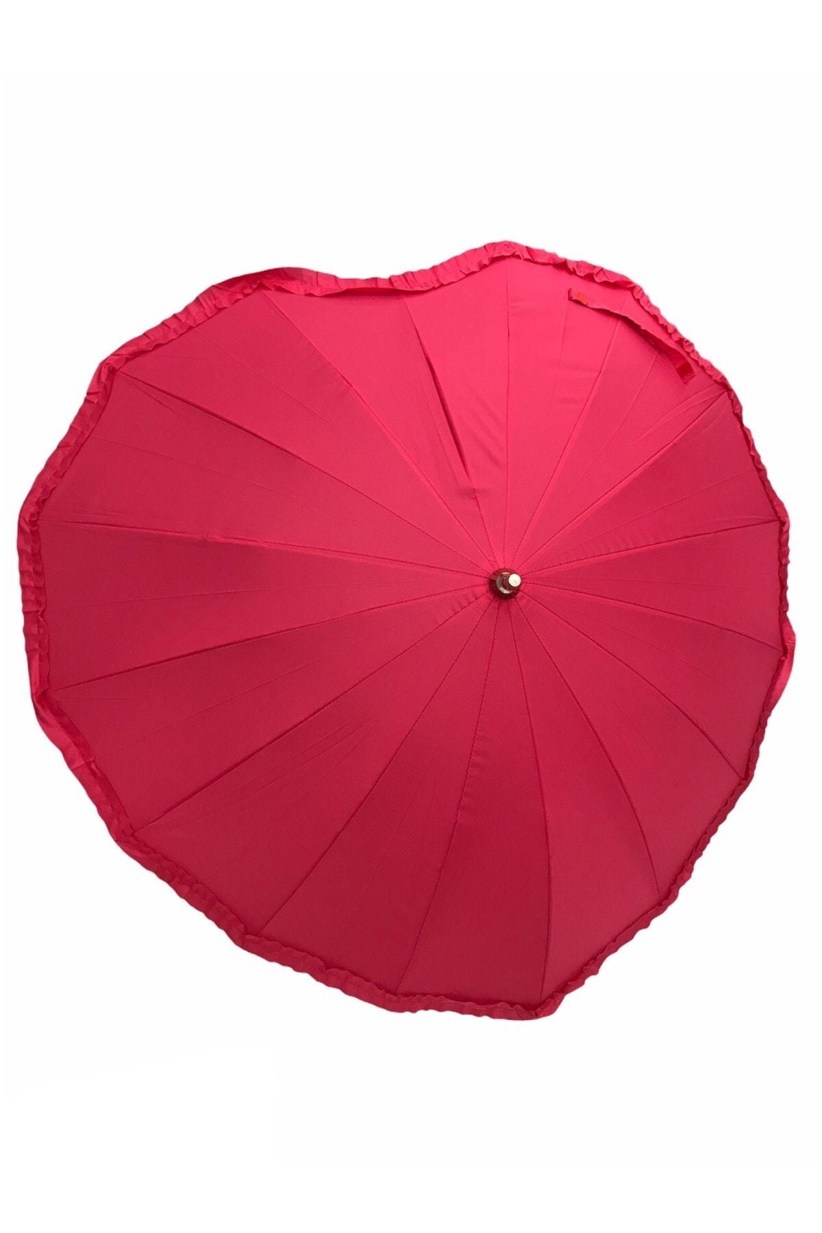 Almera Sevgililer Gününe Özel Kalpli Manuel 16 Telli Şemsiye 1