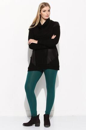 Zedd+ Plus Kadın Yeşil Büyük Beden Tayt 2140
