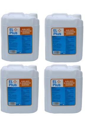 EL PLUS 4 Adet 5 Litre Antiseptik El Ve Cilt Dezenfektan Biosidal Ruhsatlı Eksi Kokmaz