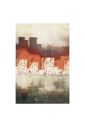 Mudo Concept Red Cıty Abstract Dokulu Kanvas Tablo 60x90cm