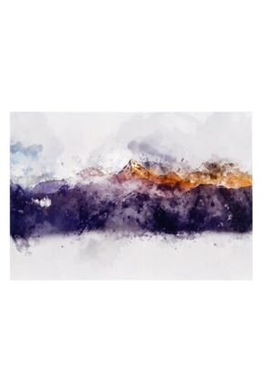 Mudo Concept Gold-blue Mountaıns Dokulu Kanvas Tablo 70x100cm