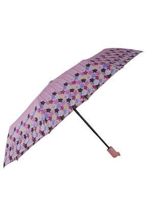 TREND Tam Otomatik Şemsiye Çiçek Desenli Pembe 6638