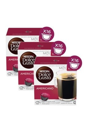 Nescafe Dolce Gusto Americano Kapsül Kahve 16 Adet X 3 Kutu