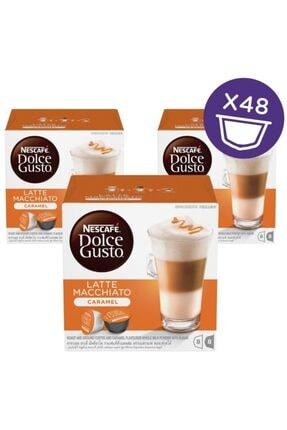 Nescafe Dolce Gusto Caramel Latte Macchiato Kapsül Kahve 16 Adet X 3 Kutu