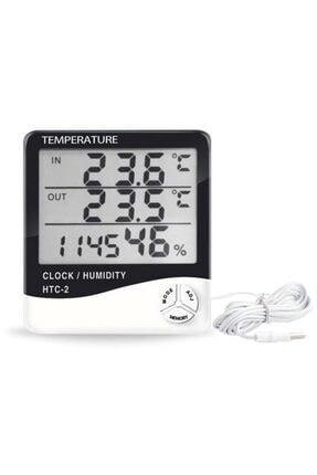 MASTEK Htc 2 Dijital Termometre Saat Isı Sıcaklık Nem Ölçer