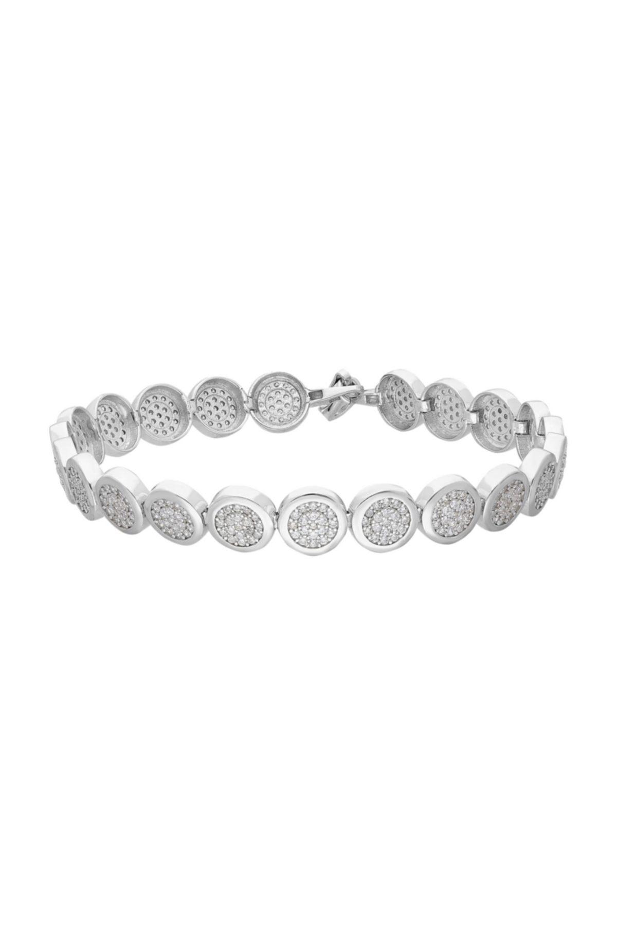 Chavin Su Yolu Yuvarlak Pırlanta Montür Taşlı Gümüş Bileklik Ee41 1