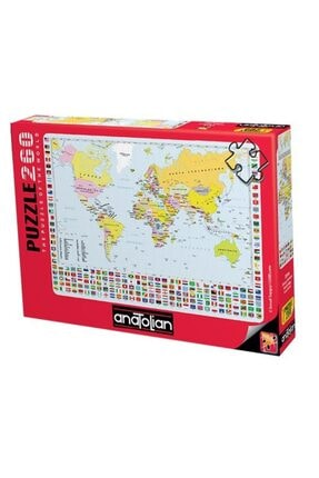 Anatolian Puzzle 3319 Dünya Haritası World Map Puzzle 260pcs / Anatolian