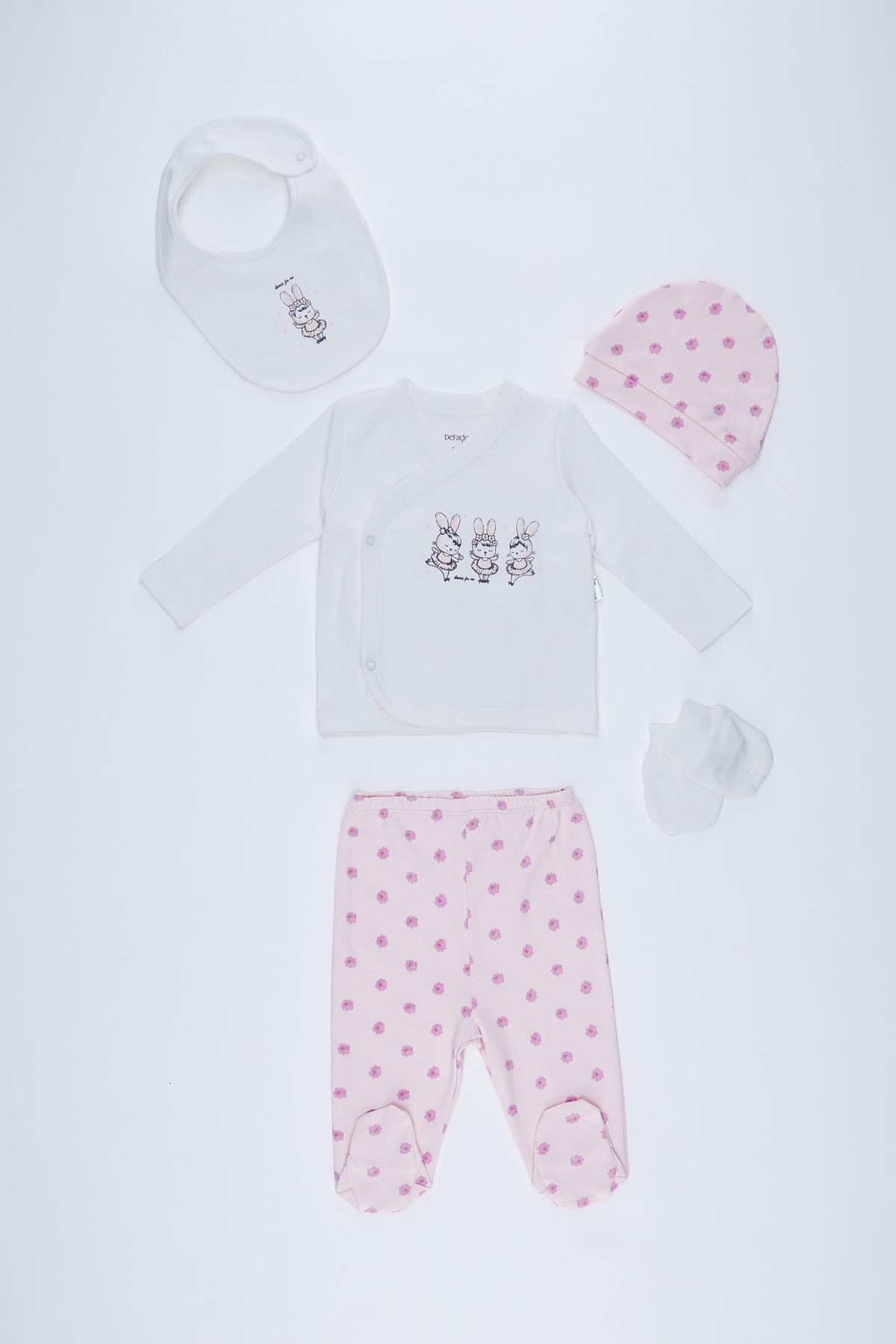 DeFacto Kız Bebek Yeni Doğan 5'li Hastane Çıkış Takımı 1