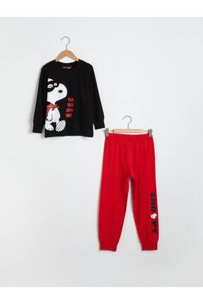 LC Waikiki Snoopy Erkek Çocuk Yeni Siyah Cvl Pijama Takımı
