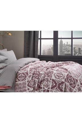English Home Tiles Pamuklu Çift Kişilik Battaniye 200x220 Cm Pembe