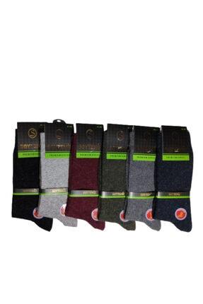 SOYTEMİZ ÇORAP Erkek Termal Çorap 6 Çift