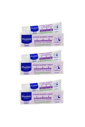 Mustela Vitamin Barrier 1-2-3 Pişik Kremi 50 ml  3 Adet
