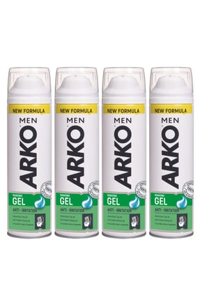 ARKO 4'Lü Anti Irritation Tıraş Jeli 4X200 ml