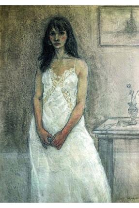 Emir Furkan Tekkalmaz Beyaz Elbiseli Kadın, 120x180, Tuval Üzerine Yağlı Boya