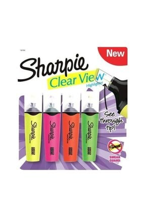 Sharpie Clear Wiew 4'lü Set