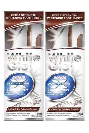 White Glo Çay - Kahve İçenlere Beyazlatıcı Diş Macunu Avantaj Paket X 2 Adet