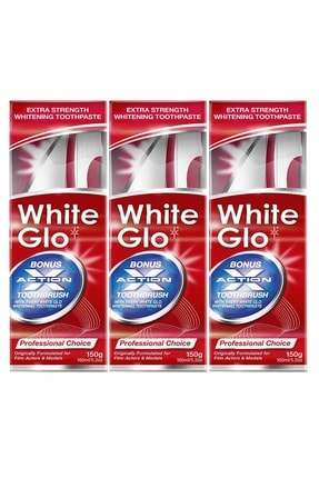 White Glo Beyazlatıcı Diş Macunu Ekstra Formül Avantaj Paket X 3 Adet