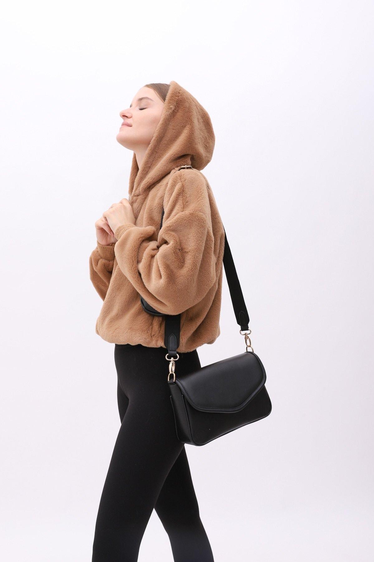 Shule Bags Cüzdanlı Çanta Ashley Siyah 2