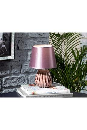 English Home Nila Porselen Abajur 18x18x26 Cm Mor