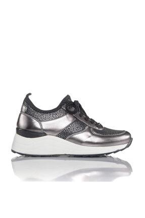 İnci Kadın Bronz Vegan Ayna Tekstil Slip On Bağcıklı Klasik Spor Ayakkabı -i3016