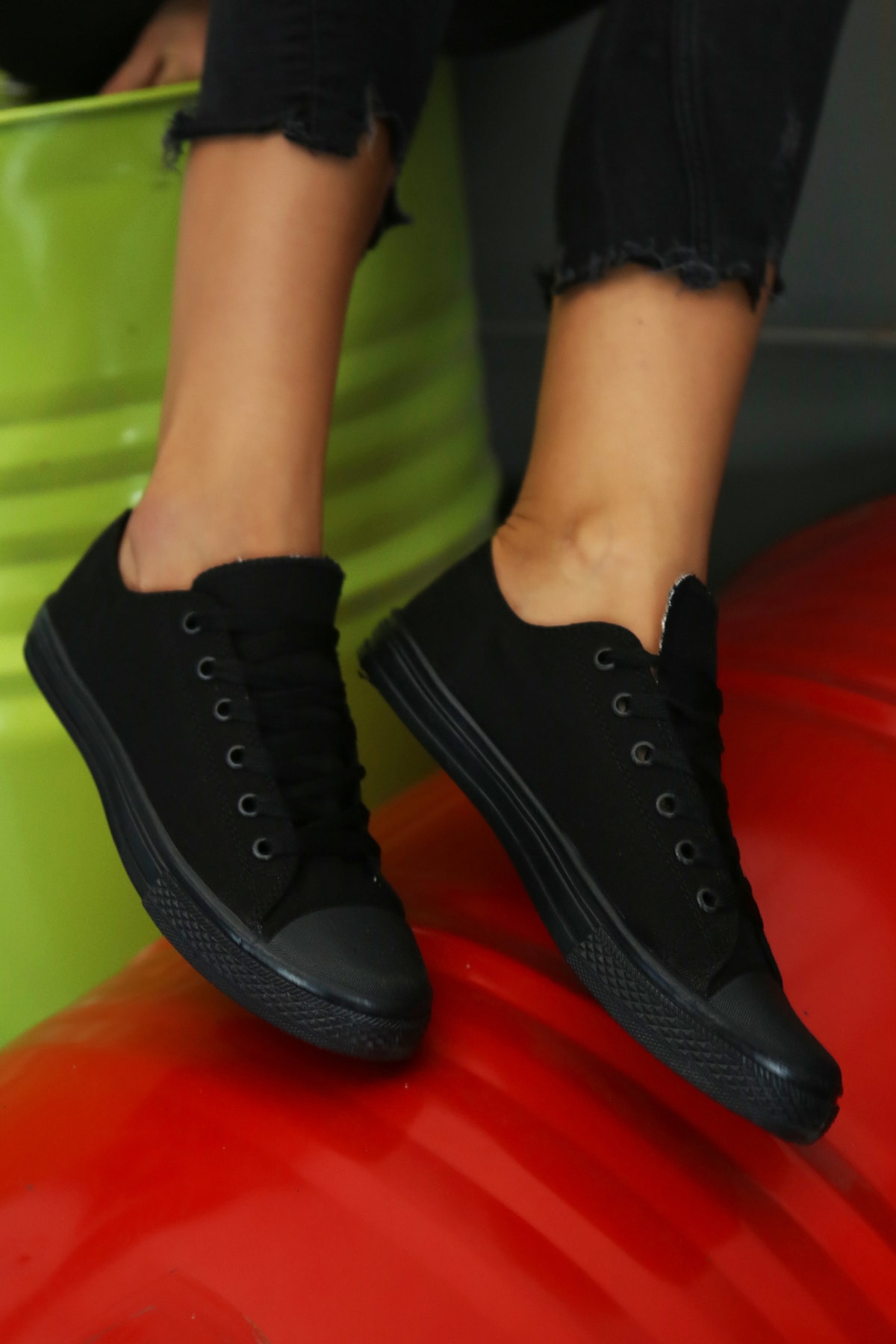 Ayakkabı Modası Kadın Siyah Ayakkabı M9999-19-100165R 2