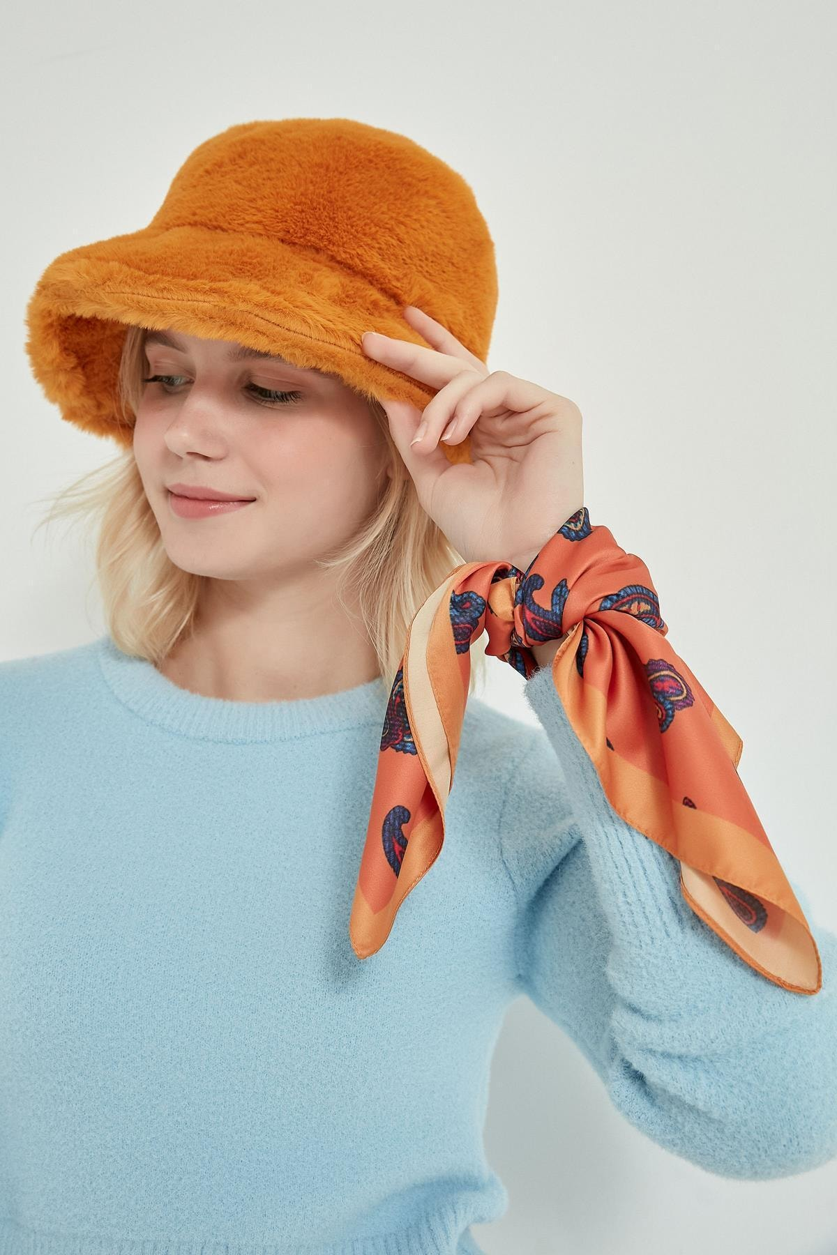 Y-London 12839-1 Safran Renk Bucket Şapka 2